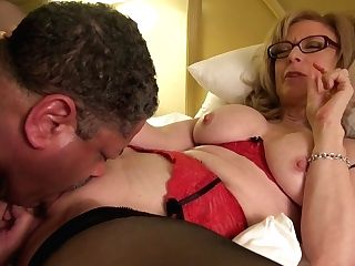 Nina Hartley Instructs Cunt Sucking Railing Old Dude's Face