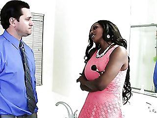 Diamond Jackson Is A Brilliant Big Titted Black Nymphomaniac Who Is...