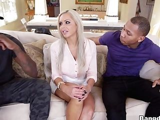 Crazy Adult Movie Star Nina Elle In Exotic Blonde, Gonzo Porno Flick