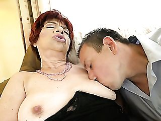 Brief Haired Matures Sandy-haired Fuckslut Is Fucked From Behind...
