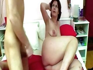 Ginger-haired Mom And Stepson Fucking In Sofa