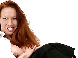 Giant Boobed Red-haired Mummy Faye Rampton Is Antsy To Kittle Her...